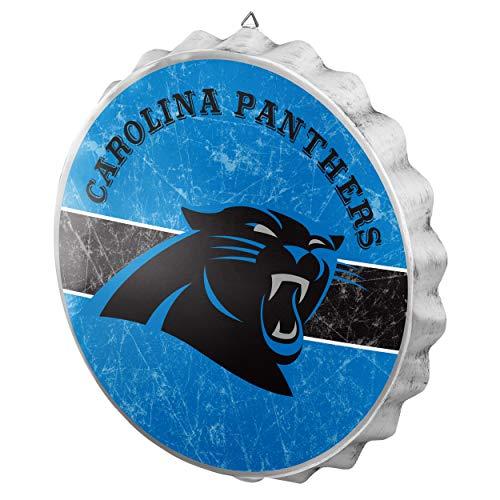 Carolina Panthers Metal Distressed Bottlecap ()