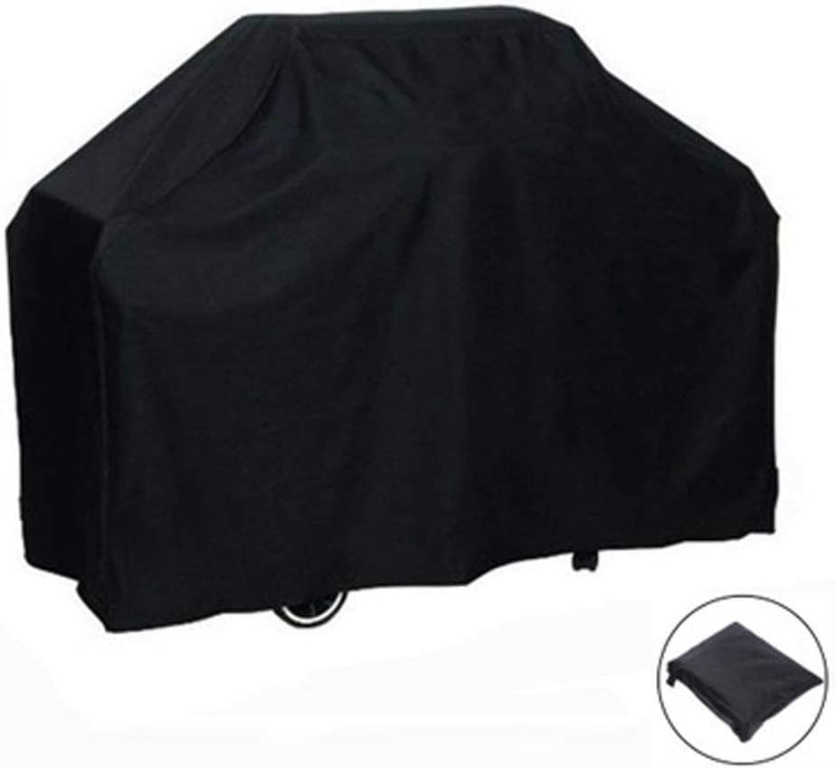 Oxford Cloth Waterproof and Dustproof Protective Cover Outdoor Furniture, Barbecue Covers, Oven Hood (Color : Black, Size : 71X73)