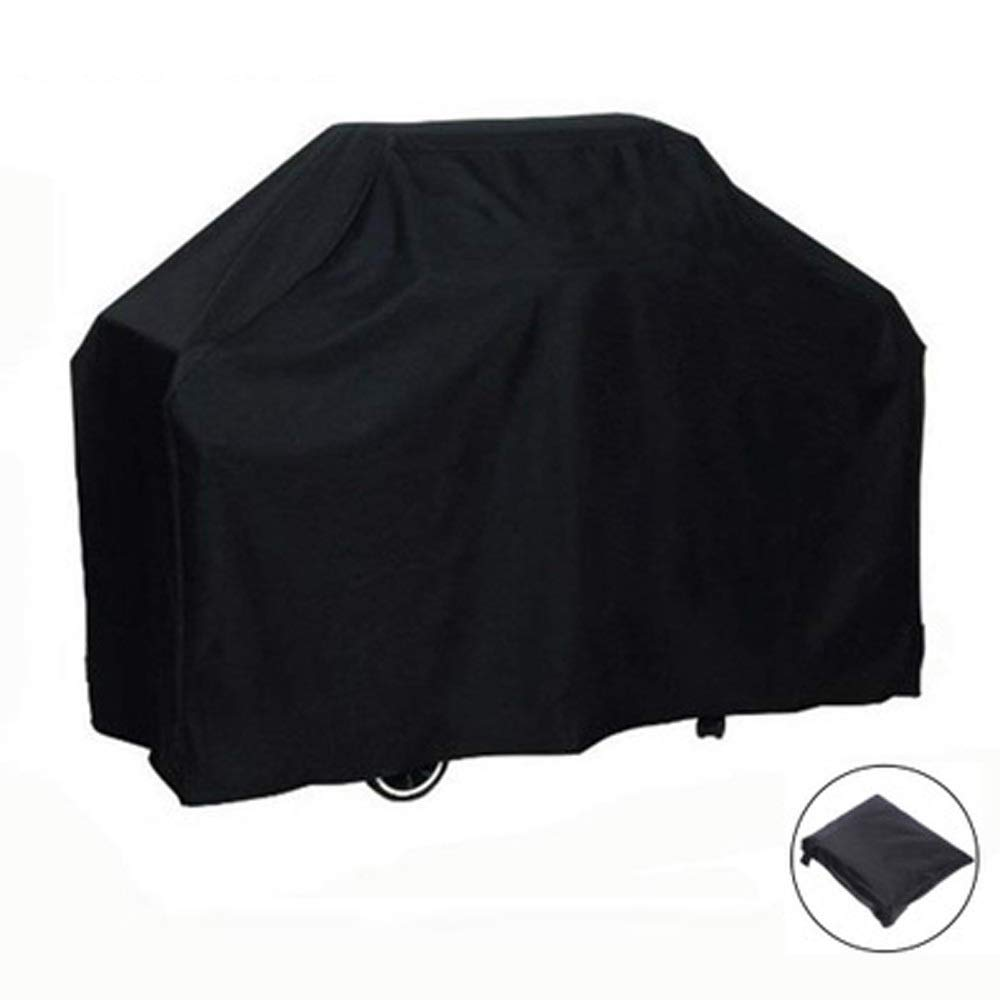 Cylficl Oxford Cloth Waterproof and Dustproof Protective Cover Outdoor Furniture, Barbecue Covers, Oven Hood (Color : Black, Size : 71X73)