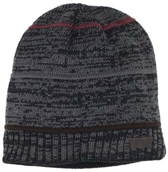 Levi's Men's Reversible Marled Knit Beanie, Black, One Size