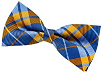 """Retreez Preppy Plaid Check Woven Microfiber Pre-tied Bow Tie (5"""")"""