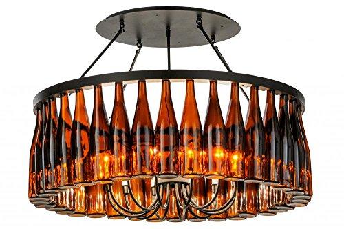 Meyda Tiffany 145354 Tuscan Vineyard Estate 36 Wine Bottle Chandelier, 38
