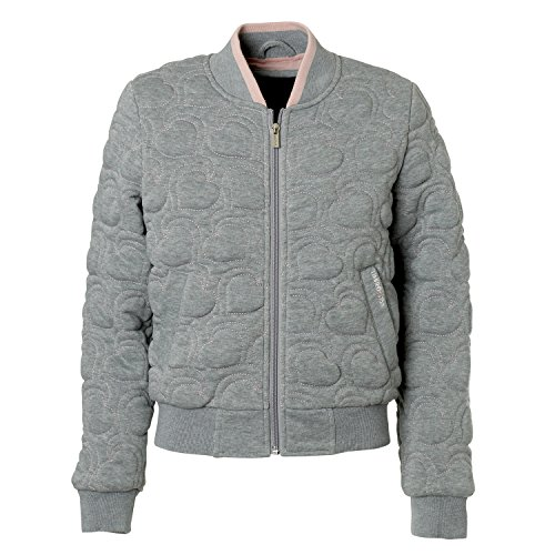Girls Quilted Bomber Jacket - 9