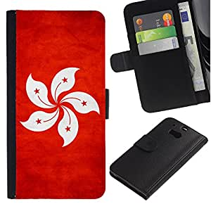 NAVY*COLLECTION ( No Para HTC ONE Mini 2) Bandera Nacional Foto CUERO RANURA TARJETA Funda Cover Case Voltear TPU Carcasas Protectora Para HTC One M8 - Hong Kong Hong Konger