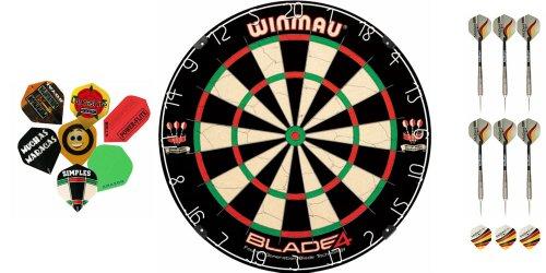 Winmau Blade 4 Dartboard + 2 Satz McDart Darts+ 10 Satz McDart®Flights