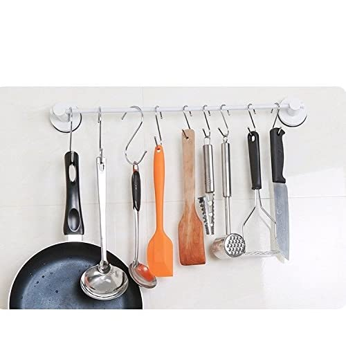 H&Y Set of 5, S Shaped Hooks Kitchen Pot Pan Hanger Clothes Holder Brushed best for Home, Kitchen and Garage Stainless Steel Metal well-wreapped
