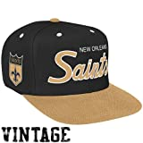 Mitchell & Ness New Orleans Saints Black-Gold Special Script Snapback Adjustable Hat