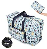 WFLB Travel Duffel Bag Foldable Floral Large Travel Bag Weekend Bag Checked Bag Luggage Tote 18...