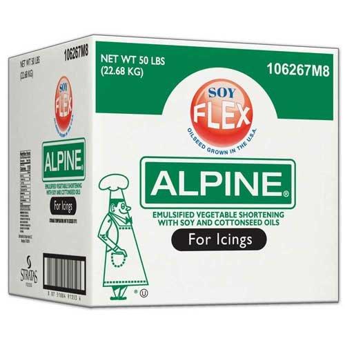 Alpine Soy Flex Icing Shortening, 50 Pound -- 1 each. by Stratas Foods
