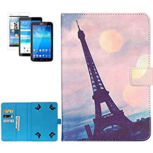 7.0 inch Tower Pattern Horizontal Flip Leather Case with Holder & Card Slots & Wallet for Samsung Galaxy Tab 4 T230 / Tab 3 / P3200 / Tab 2 / P3100, Asus Fonepad 7 / ZenPad 7.0 / MeMO Pad 7, Lenvo TAB 2 / A3000 / A5000