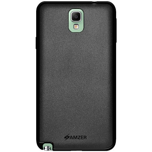 Amzer Pudding Soft Gel TPU Skin Fit Case Cover for Samsung Galaxy Note 3 Neo - Retail Packaging - Black