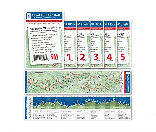 Appalachian Trail Pocket Profile Map Southern Mountains - Springer Mtn. GA. To Damascus, VA.