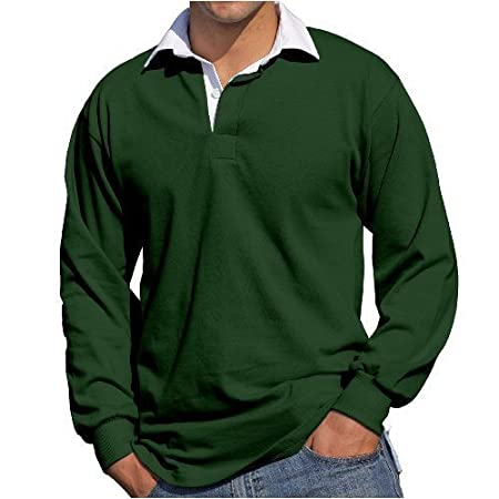 Front Row Mens Long Sleeve Casual Cotton rugby shirt FR1