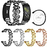 Lyperkin Band,Compatible with 22MM Sansung Gear Fit 2/ Gear Fit 2 Pro,for Women Men and Youth,Stainless Steel Chain Style Bracelet Smart Watch Band Strap Compatible with Gear Fit 2/ Gear Fit 2