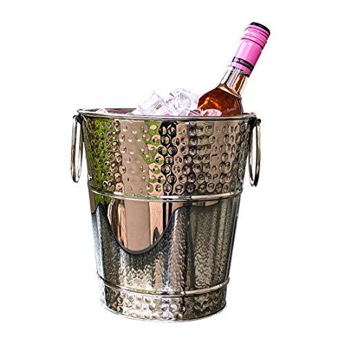 BREKX Napoli Hammered Stainless Steel Luxury Wine Ice Bucket - 5 Quart ()