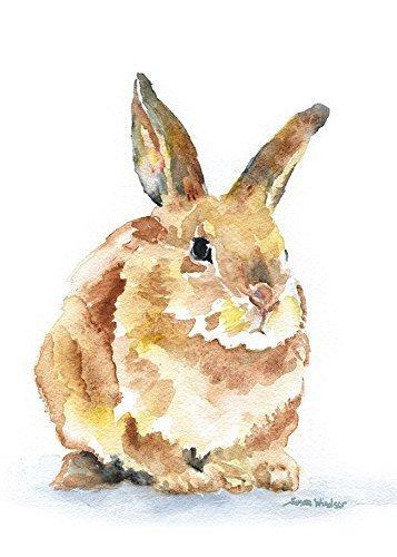 Bunny Rabbit Watercolor Print ()
