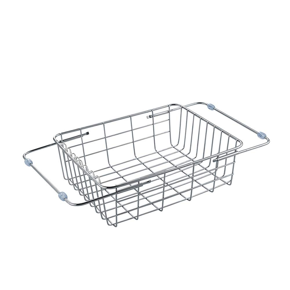 Stainless steel Housewares Under Shelf Storage Basket, kitchen shelf storage,39~45.5 cm (Size : B)