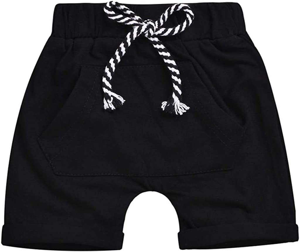 SNOWSONG Little Boys Girls Summer Drawstring Shorts Toddler Beach Shorts 12 Month 4t
