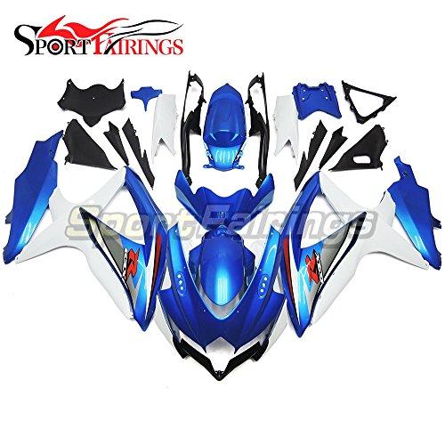 Gsxr750 Fairings (Sportfairings Complete Injection Fairing Kit For Suzuki GSX-R750 GSX-R600 GSXR 600 750 Year 2008 2009 2010 K8 Fairings Motorbike Pearl Blue)