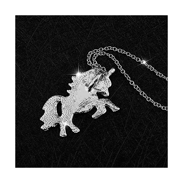 Gleamart Unicorn Necklace Rainbow Rhinestone Crystal Necklace for Women 6