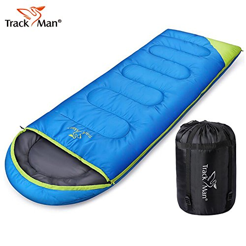 Cheap Camping Sleeping Bag (200GSM for 46°F) Envelope Outdoor Lightweight Portable Waterproof for Camping Traveling, Hiking. 2 Season Spring and Summer