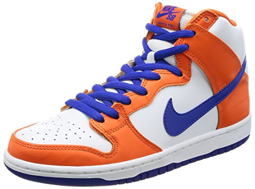 Nike SB Dunk High (Supa) QS Skate Shoes 841/SafetyOrange/HyperBlue/White 11