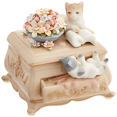 (Cosmos 80043 Fine Porcelain Kittens and Dresser Musical Figurine, 4-1/2-Inch )