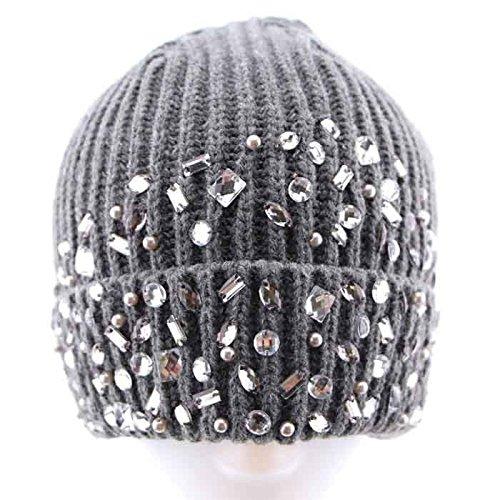 Invierno Maozi Gorro Sombrero Las Fashion de 3 3 Punto señoras de Occidental de Lana Sombrero xS8WSFwqrB