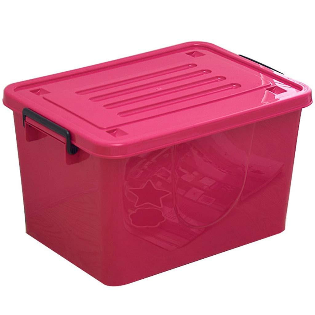 衣類玩具収納ボックス大カバーマルチカラー仕上げプーリー B07PRM1BYD rose red 52 cm × 36 cm × 30 cm