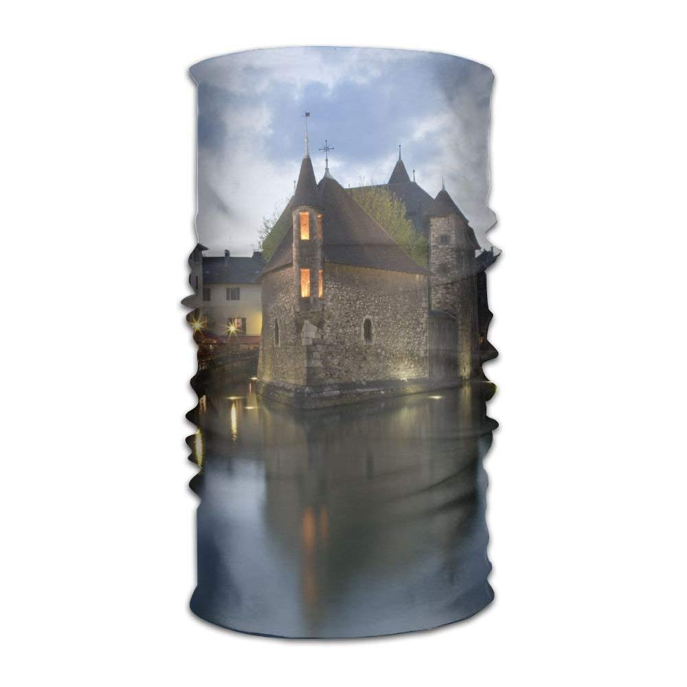 Riverside Buildings At Dusk Unisex Fashion Quick-drying Microfiber Headdress Outdoor Magic Scarf Neck Neck Scarf Hooded Scarf Super Soft Handle