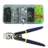 Shaddock Fishing Wire Leader Rope Hand Crimping Pliers Tools Set for Copper and Aluminum Oval Sleeves and Stop Sleeves from 0.1mm to 2.2mm (Stainless Steel Crimping Pliers Set)