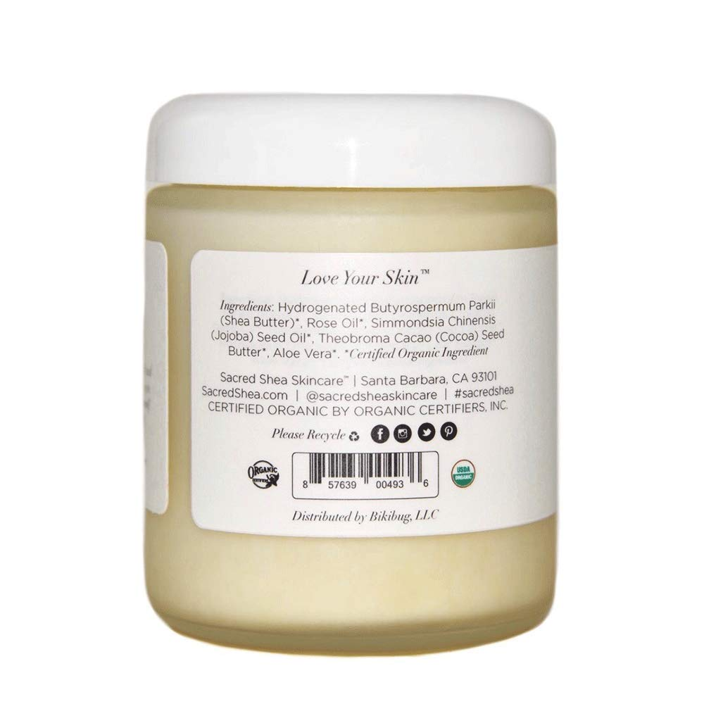Sacred Shea Skincare Organic Shea Body Butter, Fragrance Free Beauty Butter, Beauty Butter 8 oz. : Beauty