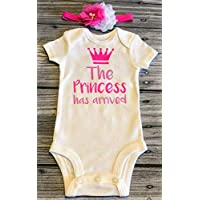 Come home outfit The princess has arrived baby bodysuit newborn headband take home outfit come home outfit custom bodysuit baby headband - baby gift - babyshower gift newborn bodysuit take home outfit