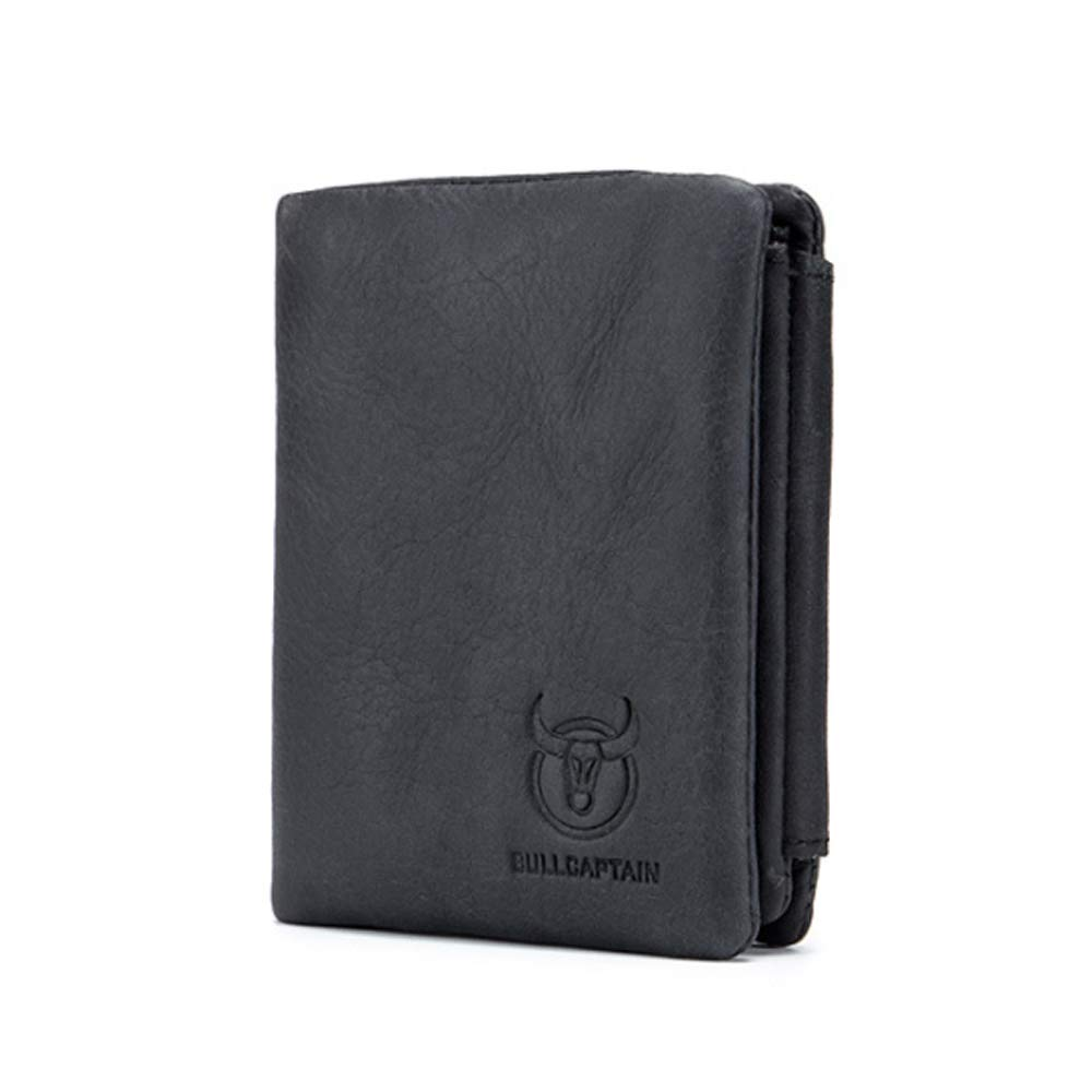 Color : Brown, Size : S Elegdy Mens Wallet Short Fashion Wallet Leather Multi-Function Multi-Card Leather Album Driving Buckle Wallet Coin Purse Fashion