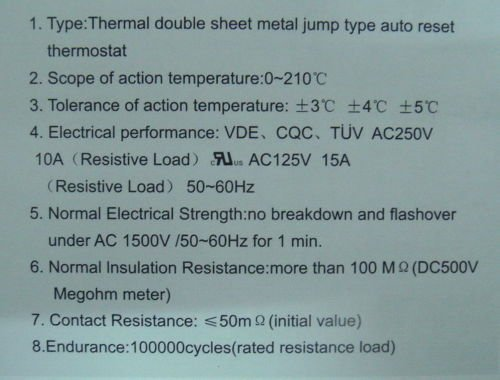 Electronics-Salon KSD301 Series Normally Close Auto Reset 40~135°C Thermostat Assortment Kit, Temperature Switch, Bimetal Disc. 40 50 60 70 80 90 100 110 120 135°C. 51E5wqjCiDL