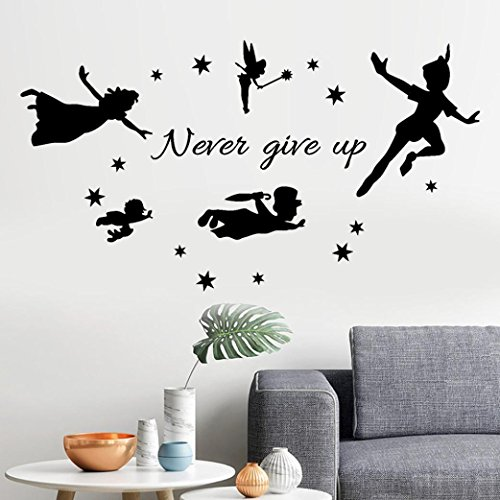 YJYDADA Wall Stickers,Never Give Up Removable Art Vinyl