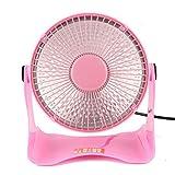 FTXJ Portable Mini Space Heater Safety Winter Desktop Electric Heating Fan (Pink)