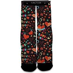 Valentine's Day Love Pattern Fashion Socks