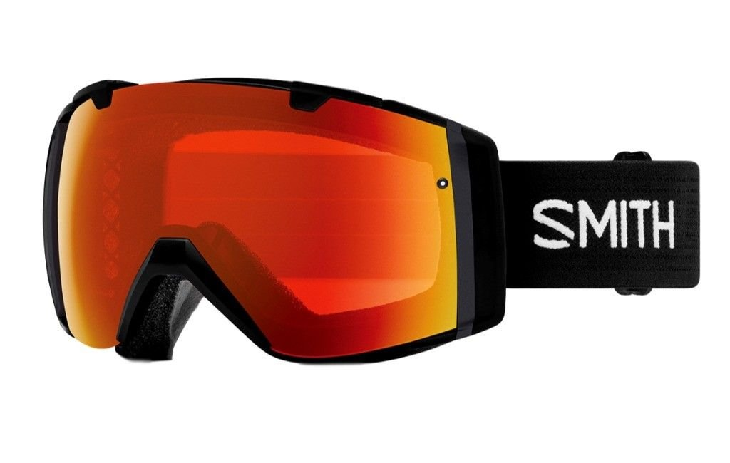 Smith Optics Adult I/O Snowmobile Goggles Black / ChromaPop Everyday Red Mirror by Smith Optics