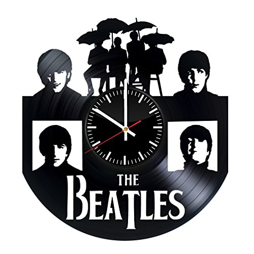 Fun Door The Beatles HANDMADE Vinyl Record Wall Clock – Perfect gifts for birthday wedding anniversary valentine's mother's father's day - Gift ideas for men and women him and her