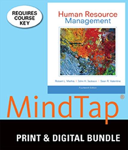 Bundle: Human Resource Management, 14th + MindTap Management, 1 term (6 months) Access Code -  Mathis, Robert L., 14th Edition, Display