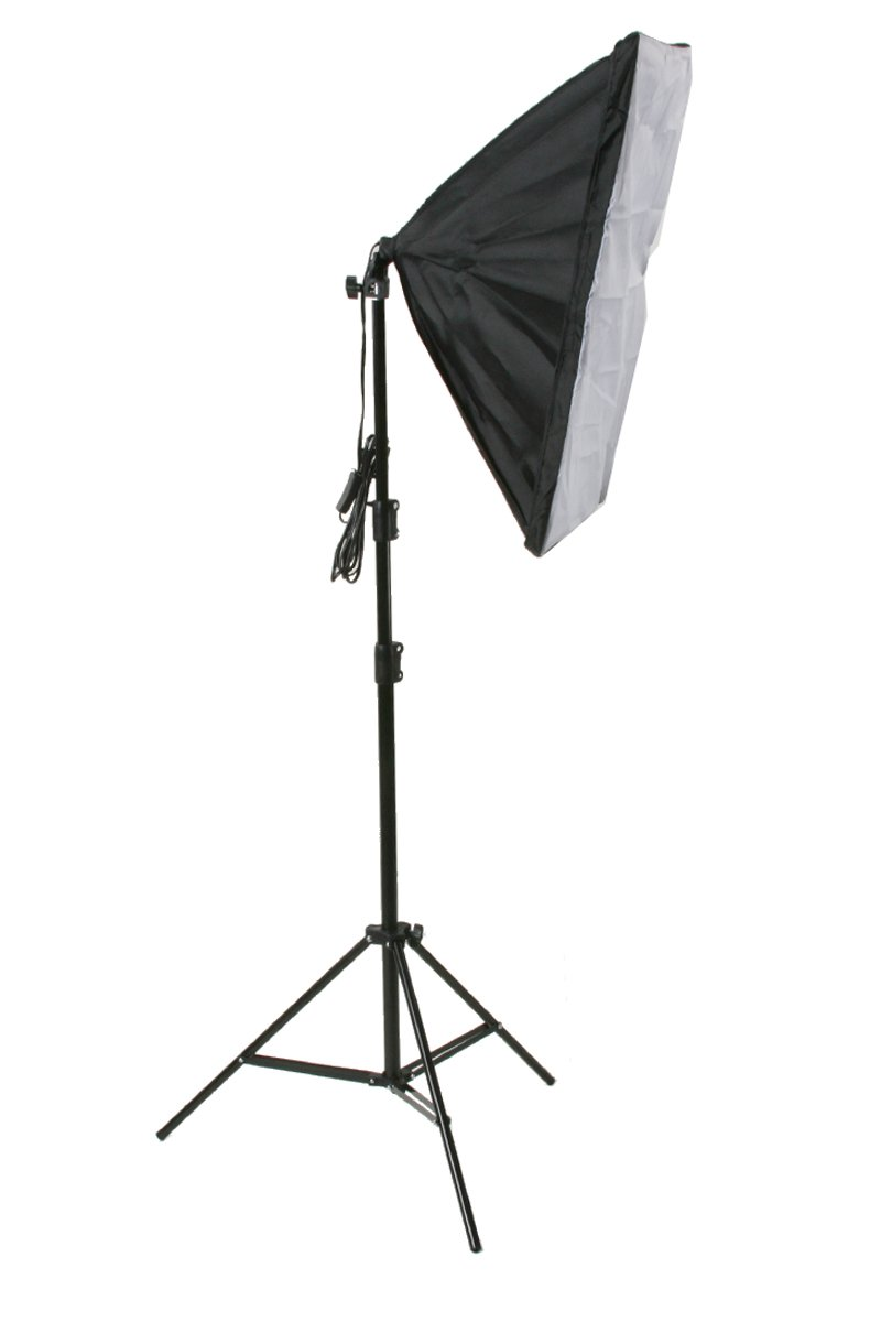 ePhoto 3 Softbox Video Photography Studio Continuous Lighting Kit & Background Supports Kit HS36BW by ePhotoinc