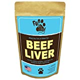 Paw to Tail Dog Jerky Treats - Made USA - All Natural - Low Fat - Grain Free - 8oz Beef Liver …