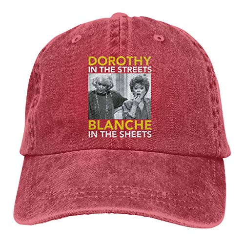 Unisex Dorothy in The Streets Blanche in The Sheets Personality Hat Adjustable Cowboy Hat Red ()