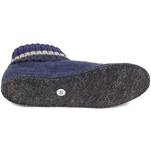 Haflinger Paul, Unisex House Slippers Blue Size: 5
