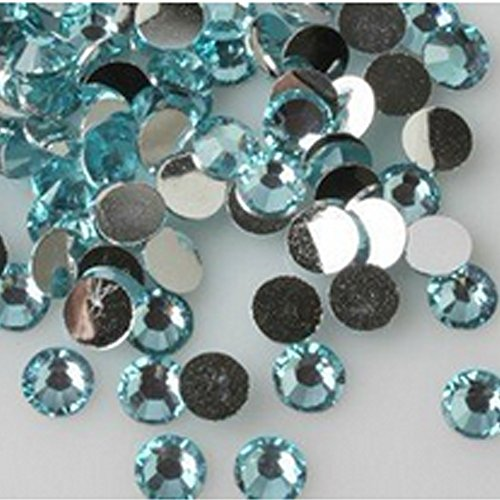 "Price comparison product image 1440pcs 0.3"" Blingbling Crystal Gems Crystal Diamond Rhinestone Sticker Phone Car Nail Art DIY (lake blue)"
