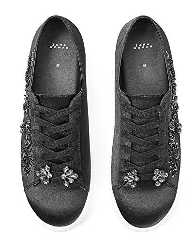 Zara Damen Sneaker mit schmucksteinen 5634/201