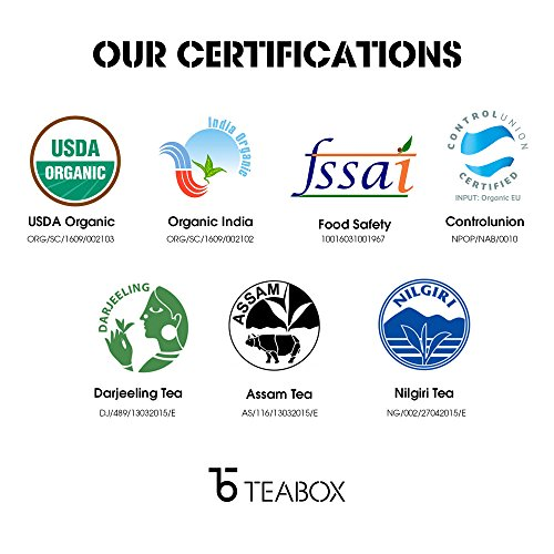 Teabox USDA Organic Himalayan Darjeeling Black Loose Leaf Tea 12 Oz. (170 Cups) | Fresh Whole Leaf Tea (2 Free Exotic Samples) |100% Natural Ingredients: Basil, Fennel, Orange | Sourced from India by Teabox (Image #6)