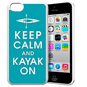diy phone caseKeep Calm and Kayak On Pattern HD Durable Hard Plastic Case Cover for iphone 6 plus 5.5 inch Design By GXFC Casediy phone case