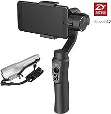 Zhiyun Smooth-Q Handheld 3 ejes Gimbal Estabilizador para for Smartphone iPhone Black